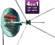 Antena Externa Mini Parabola VHF – UHF – FM