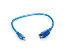 Cabo Adaptador USB 20cm – USB A Fêmea X Mini USB (V3) 5P