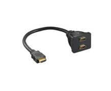 Adaptador HDMI Macho x 2 HDMI Fêmea