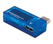 Testador de voltagem e amperagem para porta USB