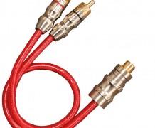 """CABO """"Y"""" COAXIAL 2 RCA MACHO X 1 FÊMEA RCA – 25CM PROFISSIONAL"""