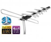 ANTENA EXTERNA DIGITAL HDTV/UHF/VHF E FM