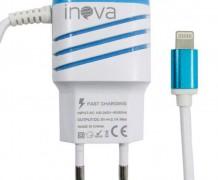CARREGADOR RÁPIDO 5V – 3,1A COM SAÍDA IPHONE 5/6/7 + USB