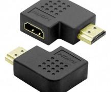 """ADAPTADOR HDMI FÊMEA X HDMI MACHO 90º """"L"""""""
