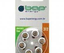 BATERIA 1,45V ZINC AIR – AUDITIVA PR-312 BLISTER COM 06 PEÇAS